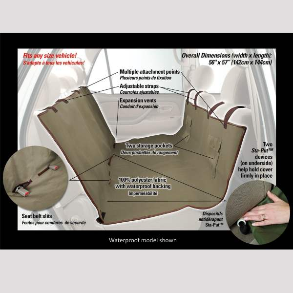 deluxe     solvit sta put deluxe hammock dog car seat cover   dogculture  rh   dogculture   au