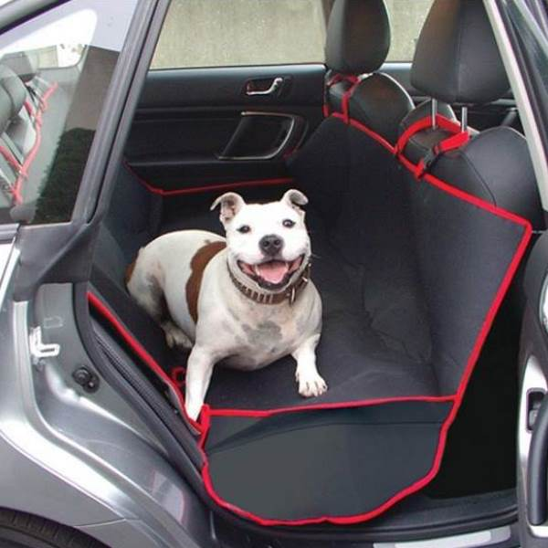 Medium image of waterproof hammock pet car seat cover  u2013 grey or black