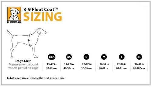 ruffwear-k9-float-coat-size-chart
