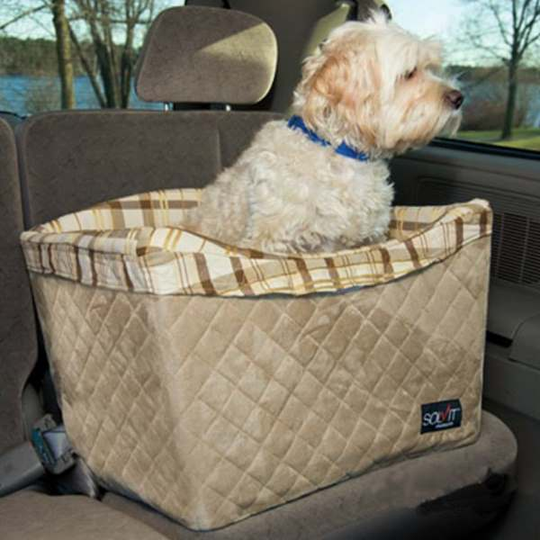 Solvit Jumbo Pet Safety Booster Car Seat Deluxe