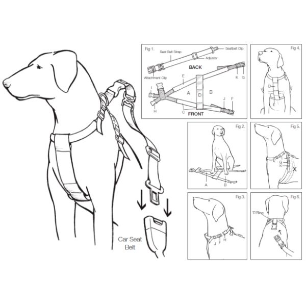 Mikki Dog Car Walking Harness