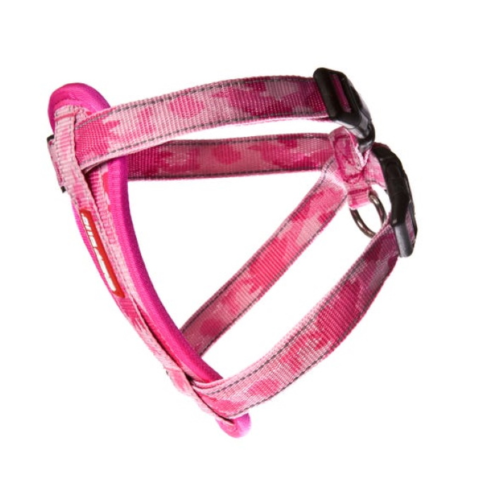 EzyDog Chest_plate_Harness_Pink_Camo_side