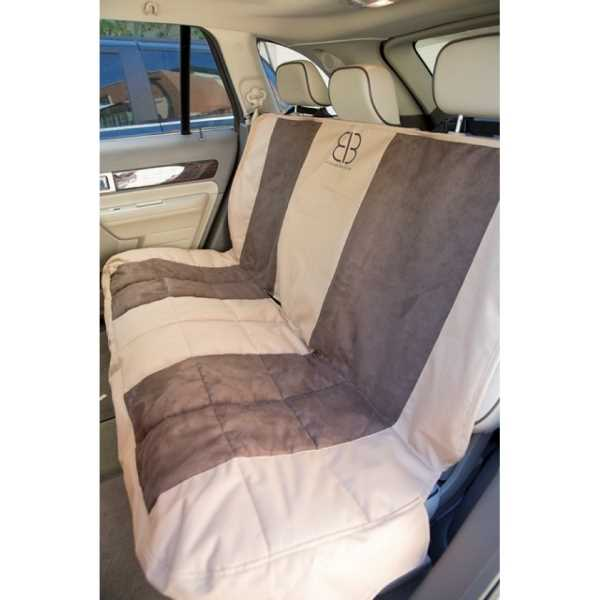 EB Dog Bench Car Seat Cover Multi Velvet TanEsp