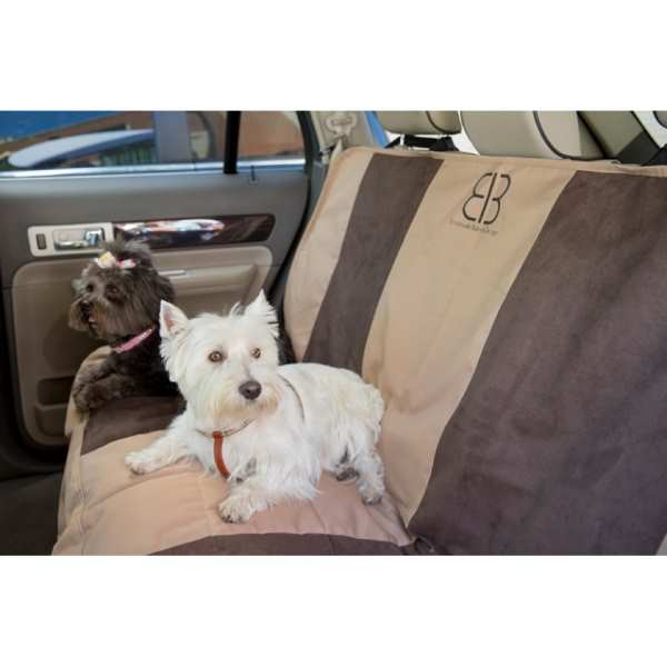 EB Dog Car Seat Cover Multi Velvet TanEsp