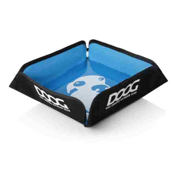 DOOG Blue foldable dog bowl
