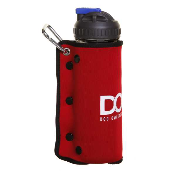 DOOG 3 in 1 Dog Water Bottle and Bowl - Red