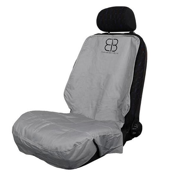 EB Front Car Seat Cover for Dogs Grey Side