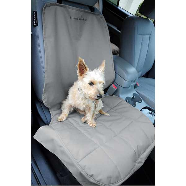 EB Front Car Seat Cover for Dogs Grey