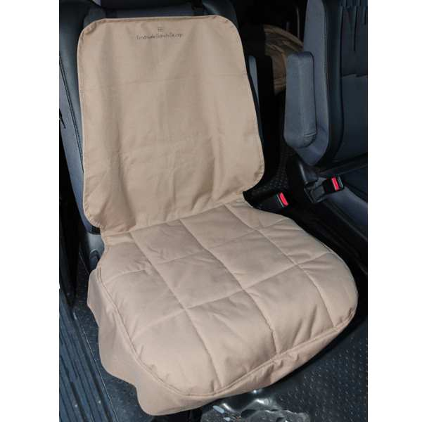 EB Front Car Seat Cover for Dogs Tan