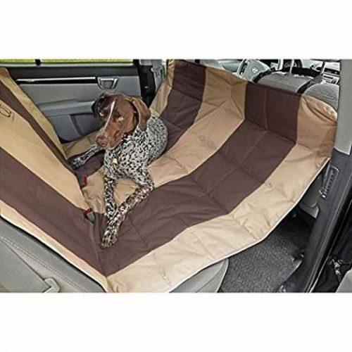 EB Velvet Hammock Car Seat Cover Tan/Espresso