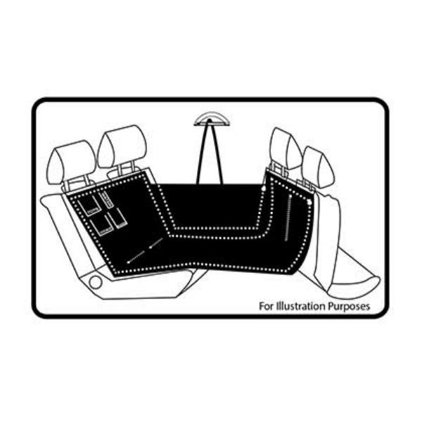 Chico Universal Pet Car Seat Hammock Diagram