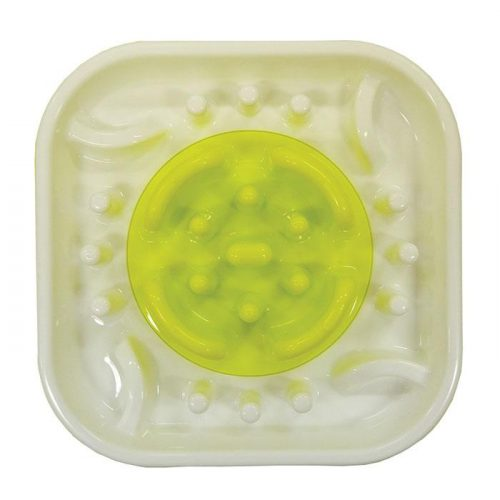 Scream Slow Feed Interactive Dog Bowl Green Top