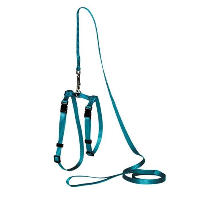 Adjustable Cat Puppy Leash Turquoise