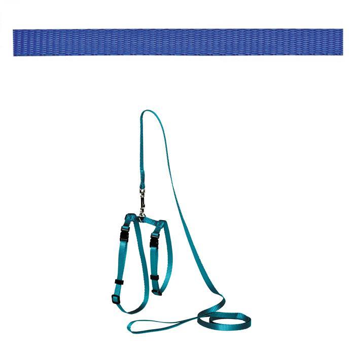 Adjustable Cat Puppy Leash Blue