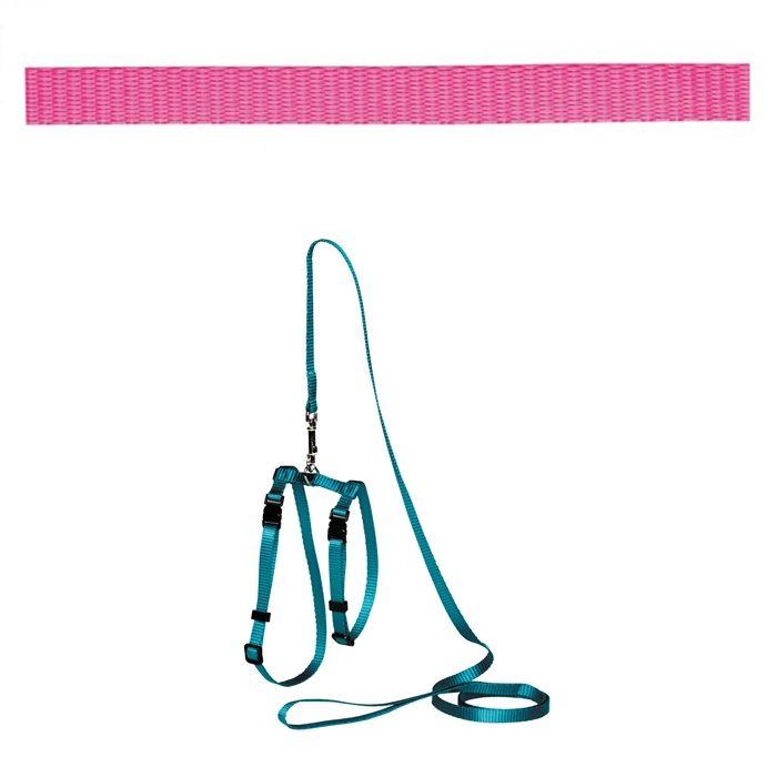 Adjustable Cat Puppy Leash Pink