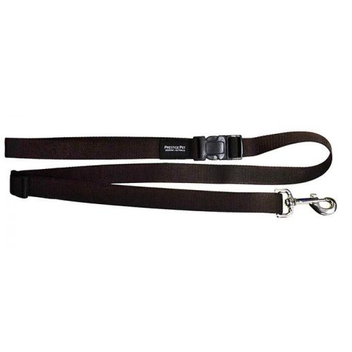 Adjustable dog lead brown