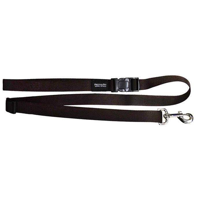 Adjustable dog lead brown