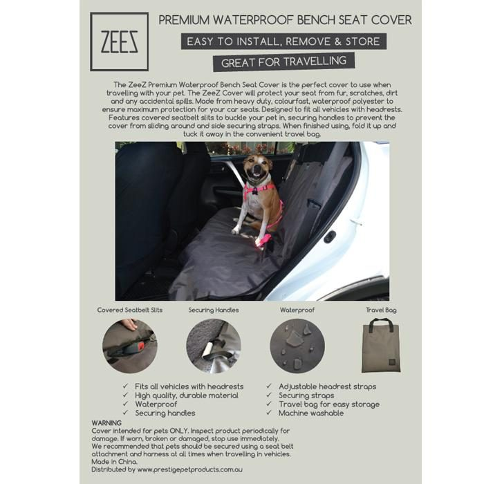 Zeez Waterproof Bench Car Seat Cover Specs