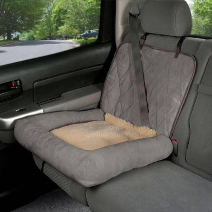 Solvit Dog Seat Car Cuddler Grey