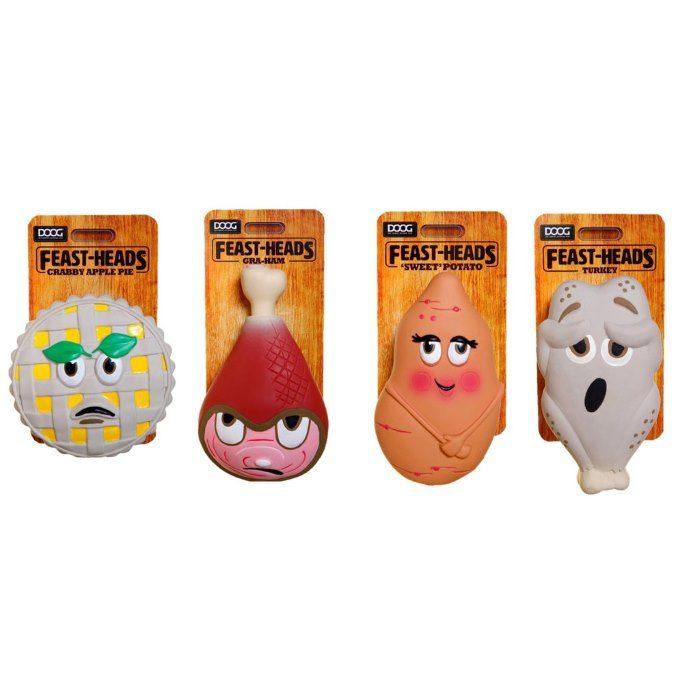 DOOG Feastheads Family Dog Toys