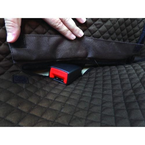Zeez Deluxe Padded Dog Car Seat Hammock Cover Seat Belt Slits