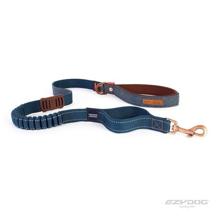 EzyDog Zero Shock Dog Leash Denim