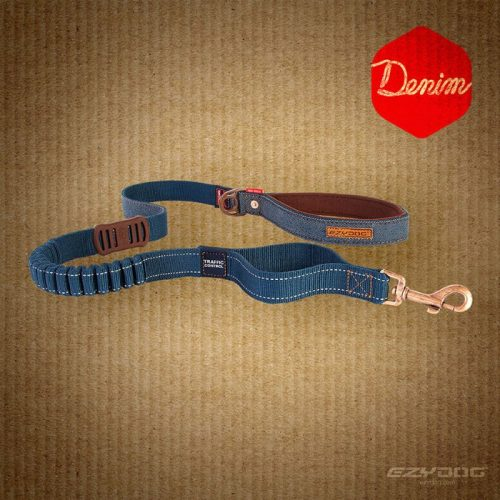 EzyDog Zero Shock Dog Leash Denim Range