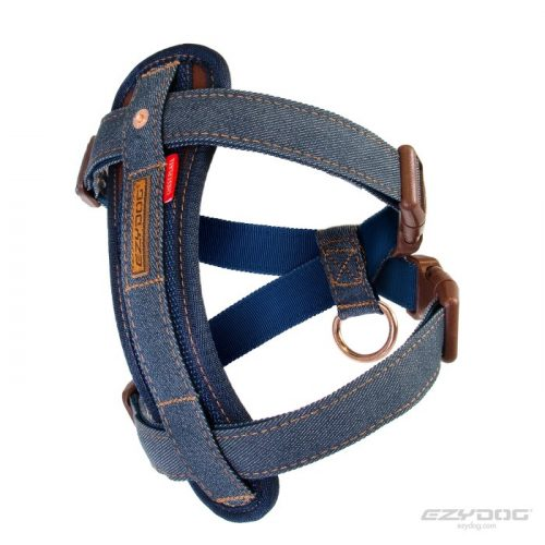EzyDog Chest Plate Harness Denim Side
