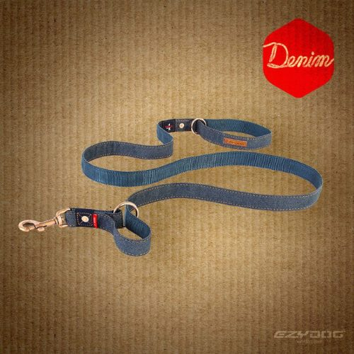 EzyDog Vario4 Dog Lead Denim Range