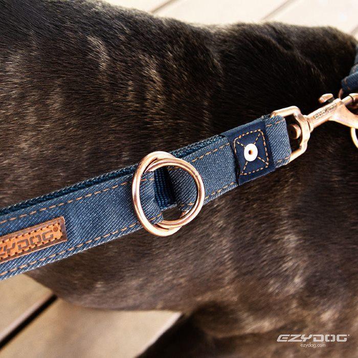 EzyDog Vario4 Dog Leash Denim