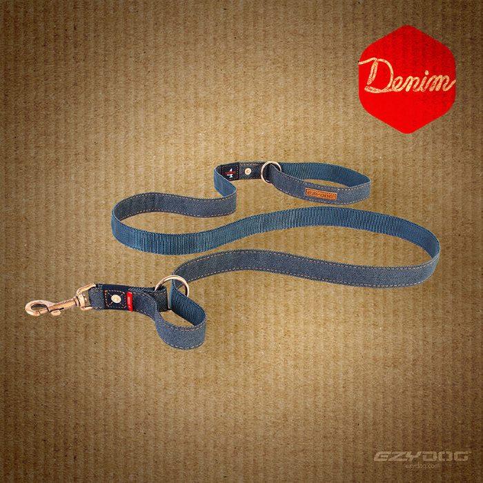 EzyDog Vario4 Dog Lead Denim Range