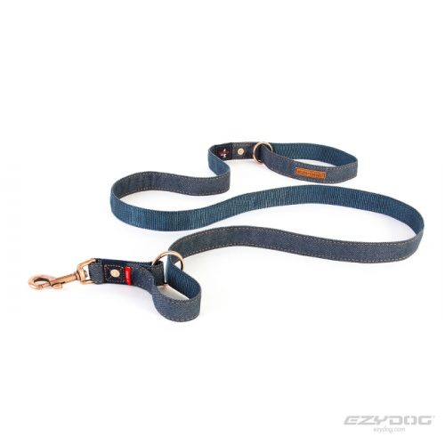EzyDog Vario4 Dog Lead Denim