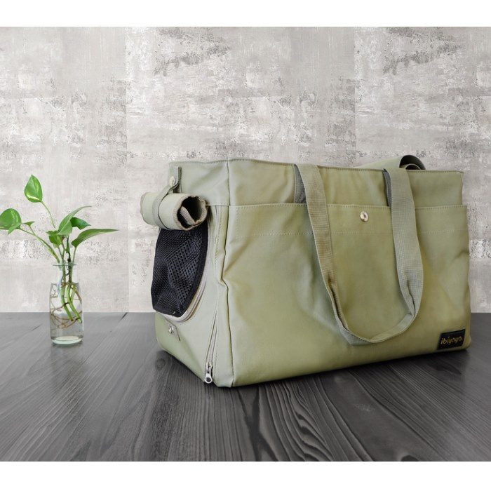 Canvas Pet Tote Soft Carrier Bag Army Green Ibiyaya