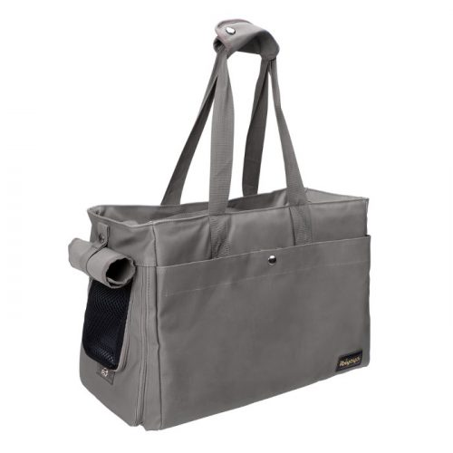 Canvas Pet Tote Soft Carrier Bag Grey