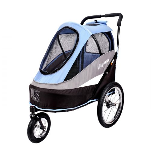 Dog bike trailer stroller Blue