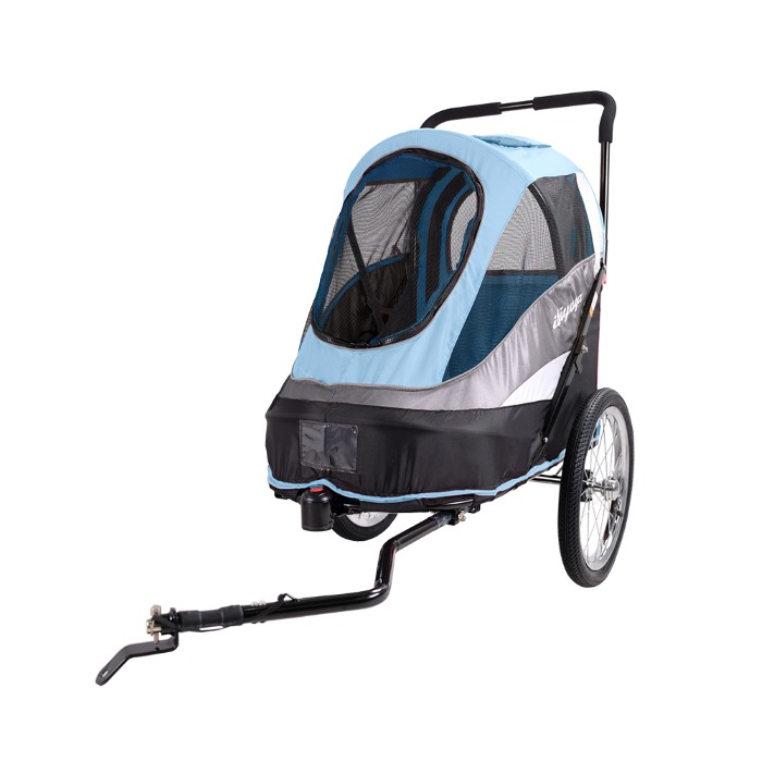 Dog bike trailer stroller Blue bike arm