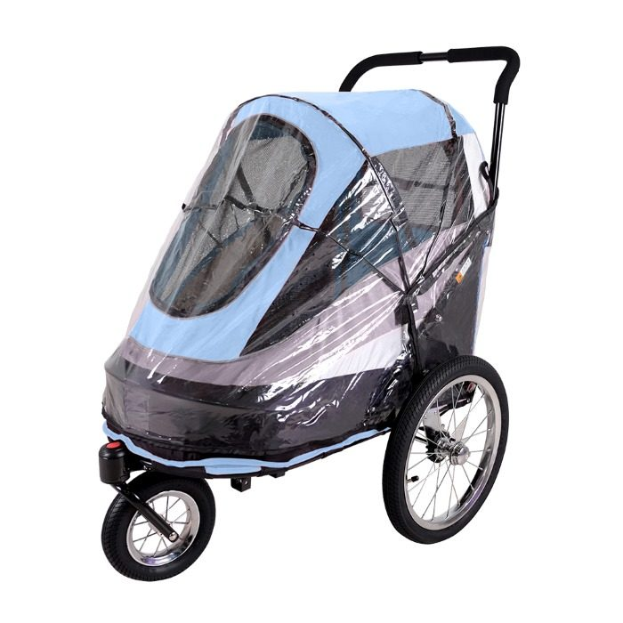 Dog bike trailer stroller Blue raincover