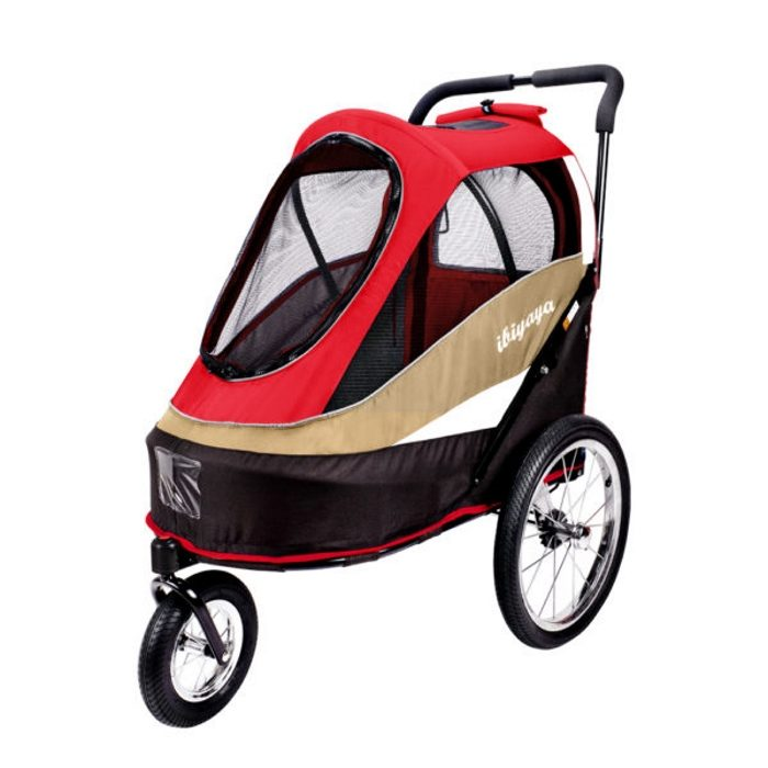 Dog bike trailer stroller Red