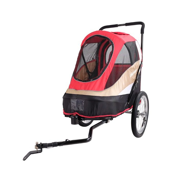 Dog bike trailer stroller red bike attachment