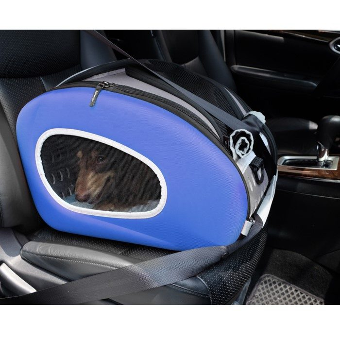 EVA 4in1 Pet Carrier Wheels Blue Dog Car Seat
