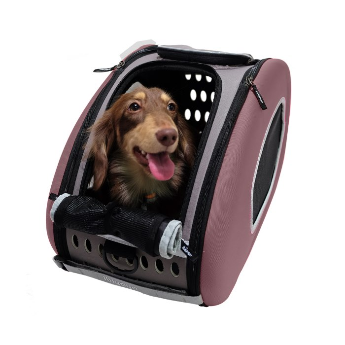 EVA 4in1 Pet Carrier Wheels Brown Dog
