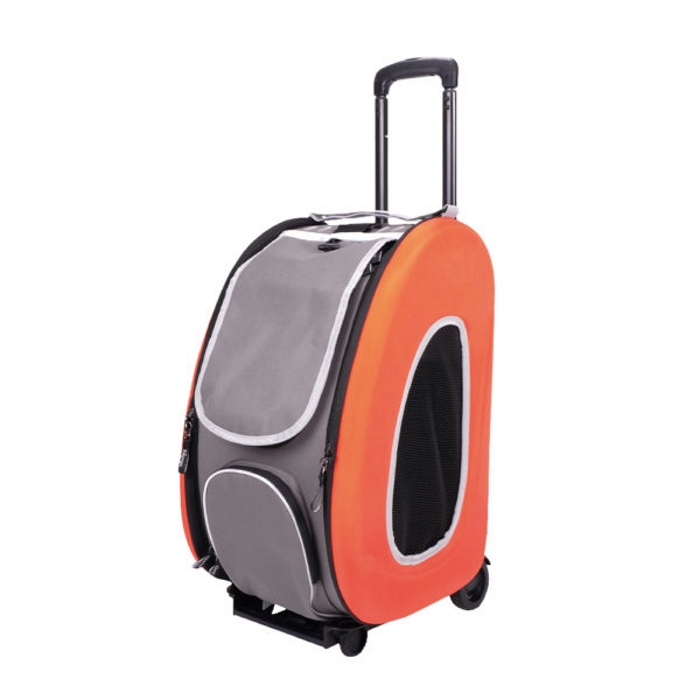 EVA 4in1 Pet Carrier Wheels Orange