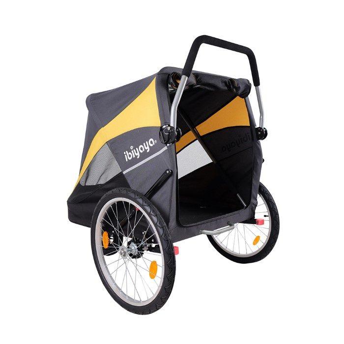 Heavy Duty Pet Stroller Back Open