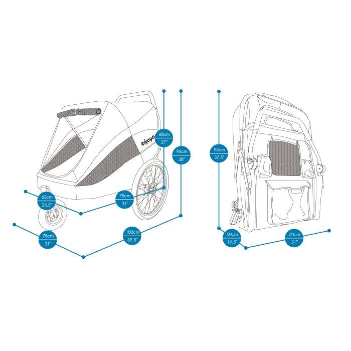 Heavy Duty Pet Stroller Dimensions