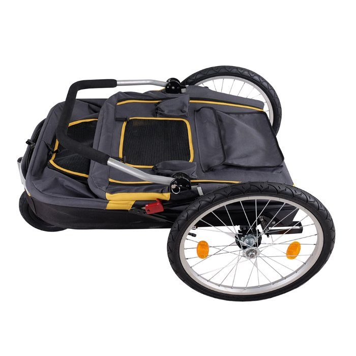Heavy Duty Pet Stroller Folded