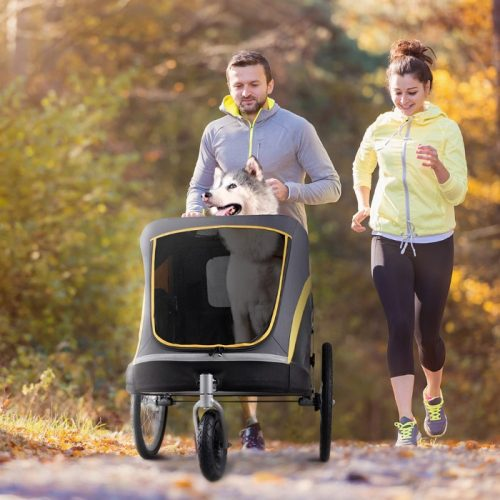 Heavy Duty Pet Stroller Running