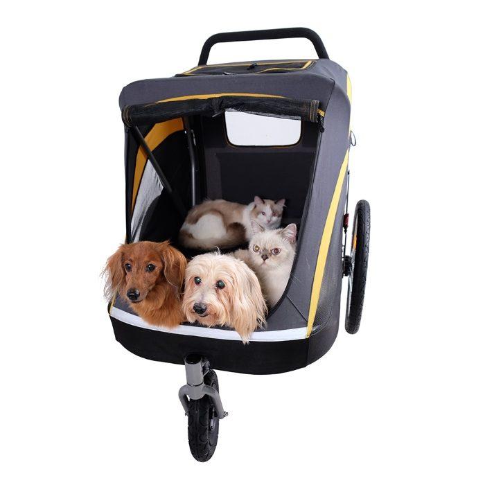 Heavy Duty Pet Stroller with Multiple Dogs