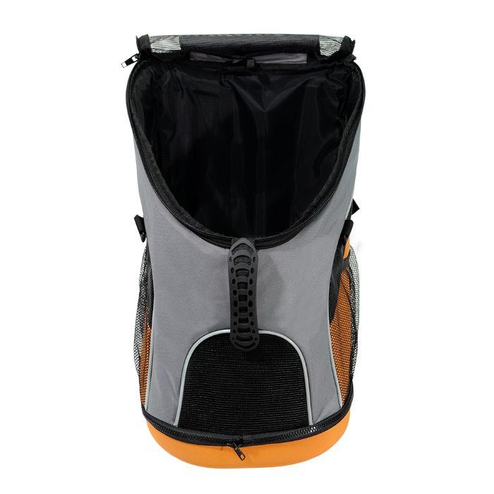 Ibiyaya Ultralight Backpack Pet Carrier Grey Front Open