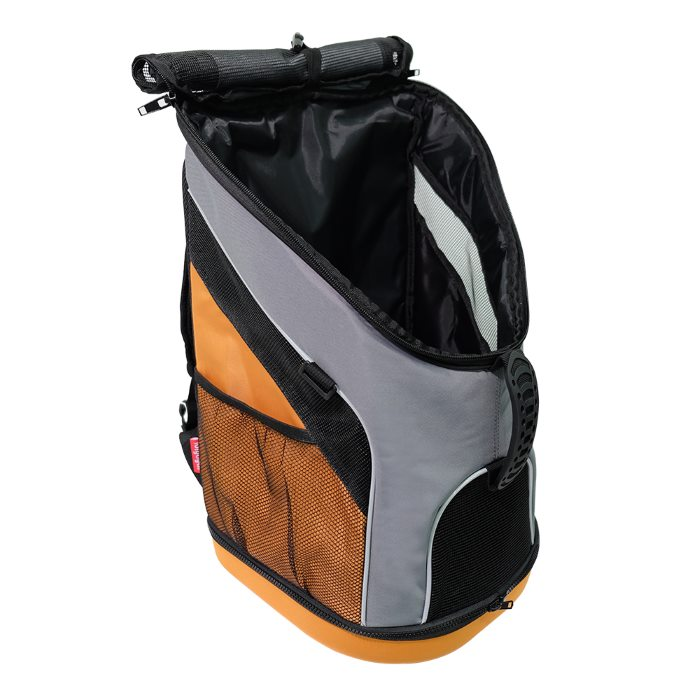 Ibiyaya Ultralight Backpack Pet Carrier Grey Side Open