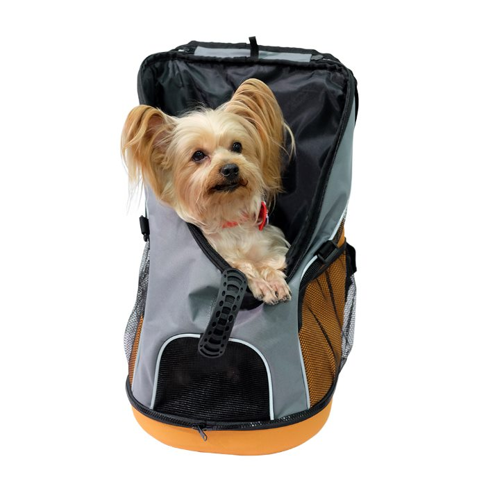 Ibiyaya Ultralight Backpack Pet Carrier Grey with Dog